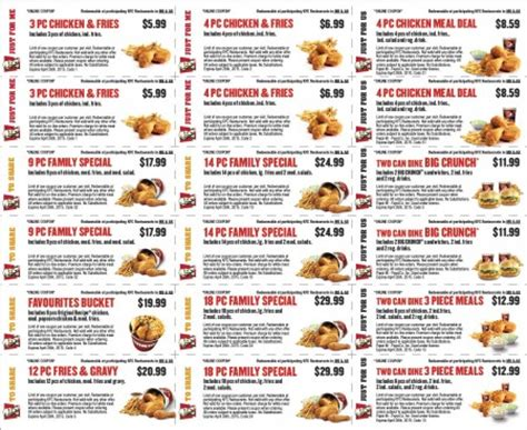 printable restaurant coupons winnipeg kfc new spring savings coupons until apr 26 toronto
