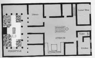 Roman House Floor Plan by Geography 380 Maps