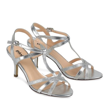 silver occasion shoes georgina paradox pink