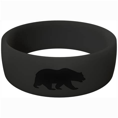 Rubber Wedding Bands   Men's Black   Grizzly Rings
