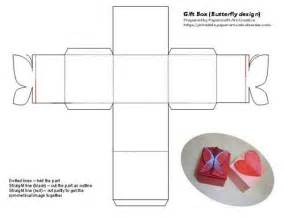 Tiny Box Template by Printable Butterfly And Shaped Tiny Gift Box