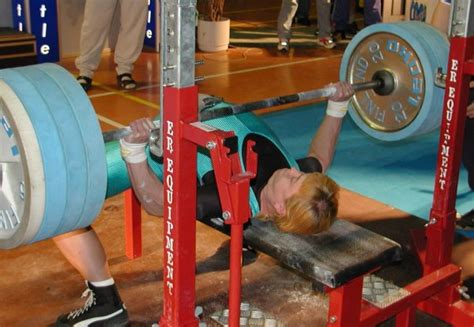 female bench press record european powerlifting federation
