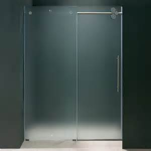 sliding shower glass door frameless glass vigo 60 inch frameless frosted glass