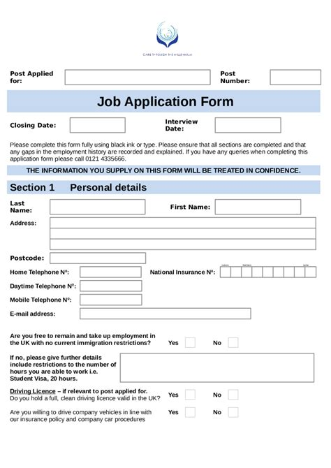 Job Application Form Template Edit Fill Sign Online Handypdf Fillable Employment Application Template