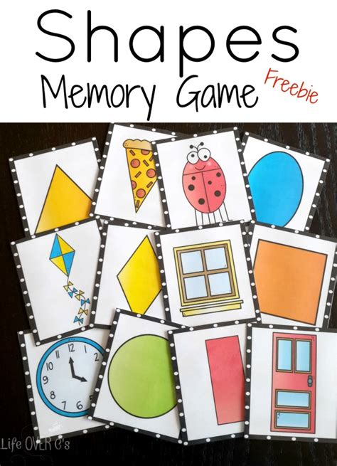 printable shapes matching game 4 free printable 2d shape activities life over cs