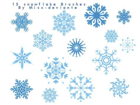 snow pattern brush snowflake brushes shape photoshop brushes brushlovers com