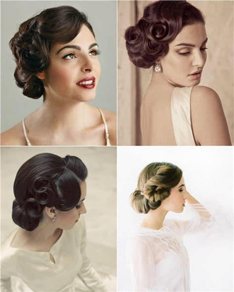 Vintage Bridesmaid Hairstyles 2013 by Wedding Hairstyles Looks Wedding Updos 2015 Vpfashion