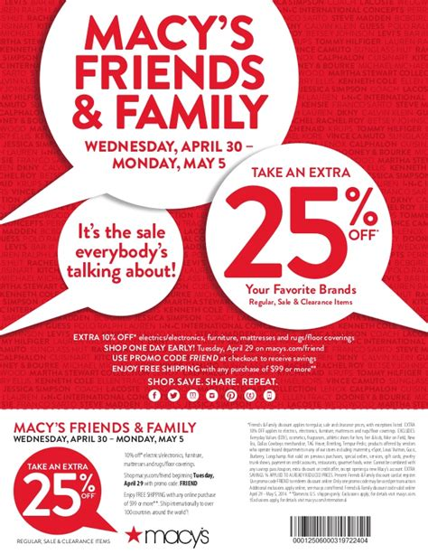 Friends And Family Discount At Prescriptives by Macy S Friends Family 25 Coupon
