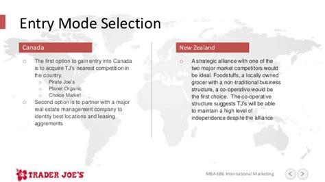 Mba International Marketing Uk by Trader Joe S International Marketing Plan