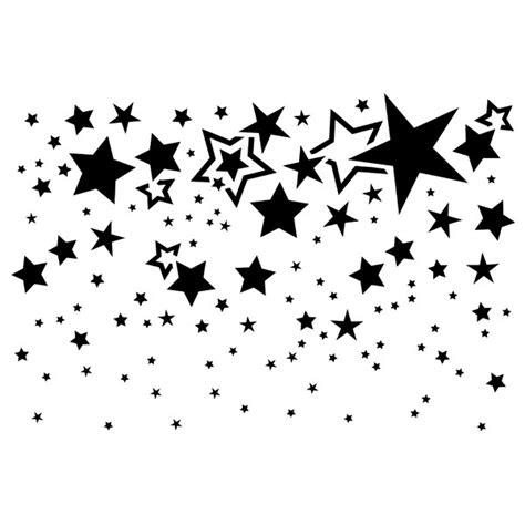 sternenhimmel basteln fenster kunststoff schablone din a4 sternenhimmel