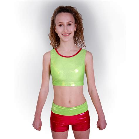Sport Cropped getty sports cropped top und lime cheer