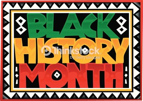 black history month colors heading black history month zigzag border color vector
