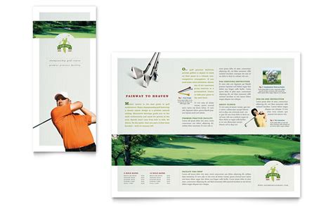 course brochure template golf course tri fold brochure template