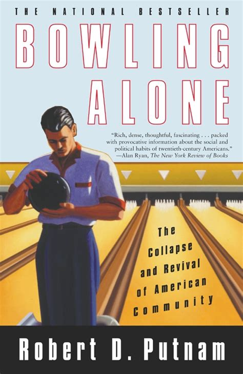 bowling alone book by robert d putnam official