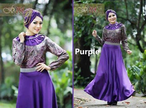 Gamis Cantik Purple drupadi by fitria purple baju muslim gamis modern