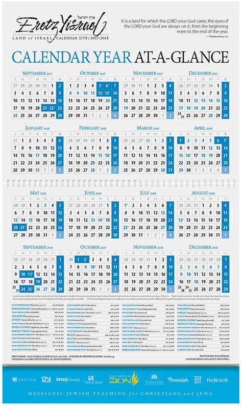 eretz yisrael land of israel calendar