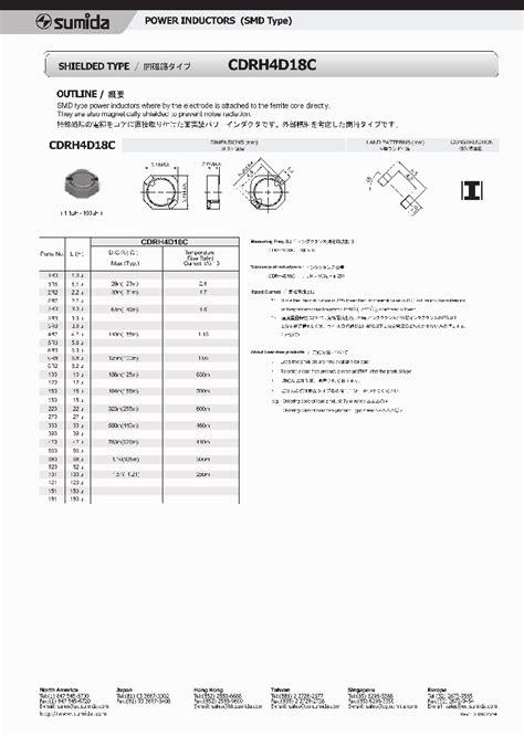 power inductor datasheet cdrh4d18c 1225508 pdf datasheet ic on line