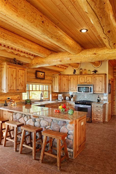 log home kitchen cabinets log home kitchen design yellowstone log homes