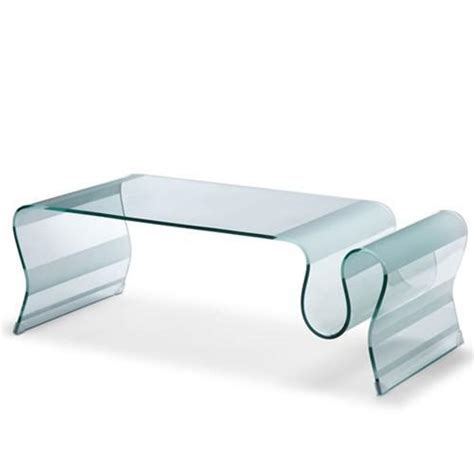 curved glass coffee tables bent glass coffee tables