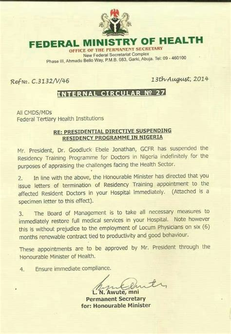 ingredient search minister of health shocking jonathan sacks all resident doctors in nigeria