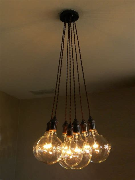 hanging bulb chandelier 17 best ideas about edison bulb chandelier on
