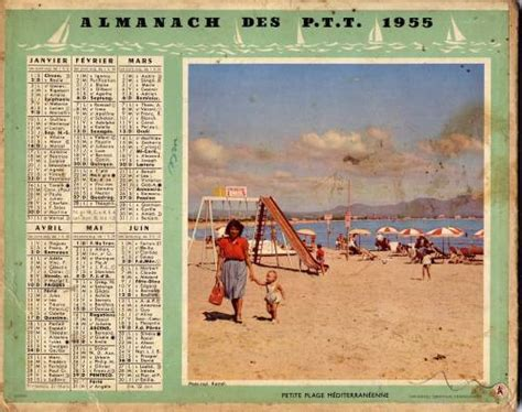 Calendrier Ptt Almanach Des Ptt 1955 Regis Iglesias