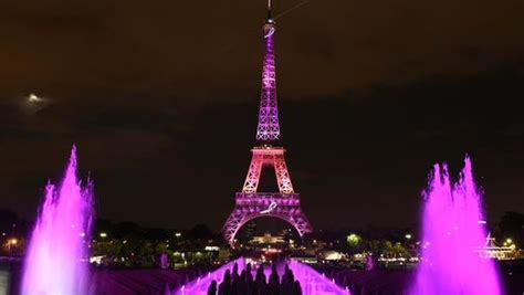 eiffel tower light up lights up with pink eiffel tower for breast cancer