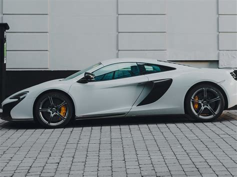 wallpaper mclaren white supercar side view  uhd  picture image