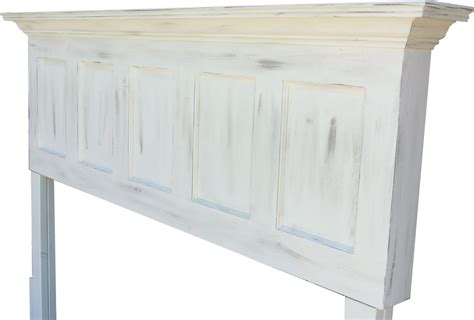 distressed white headboard antique white or popcorn white faux distressed door headboards