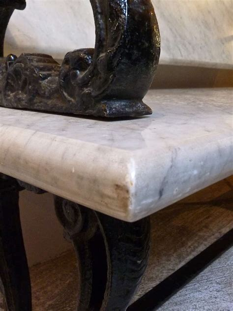 cast iron bench back marble and cast iron bench with pivoting back