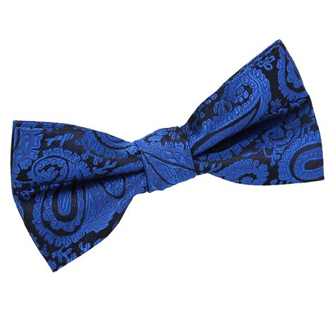 s paisley royal blue bow tie