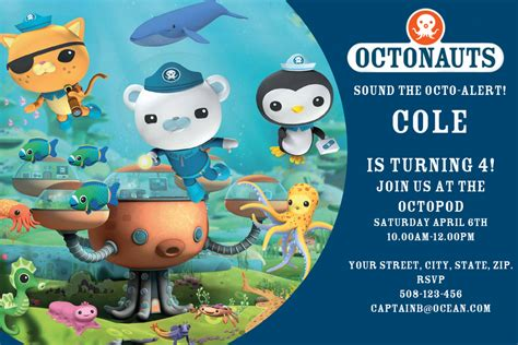 octonauts templates octonauts digital birthday invitation by sandinmyshoesdesigns