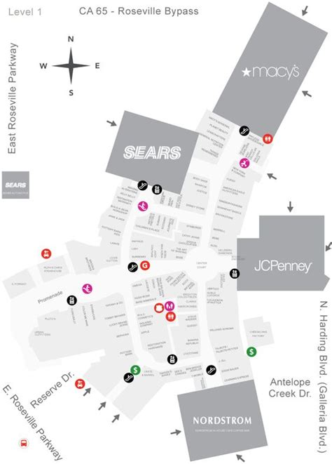 layout of rosedale mall westfield galleria at roseville mall map my christmas