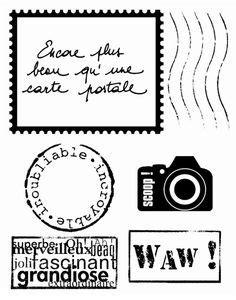 Kupon Souvenir Model Air Mail lot ton scrapbooking voyage photo timbre carte postale