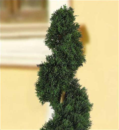 spiral topiary tree 3 cedar spiral artificial topiary tree w pot indoor outdoor