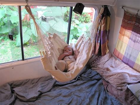 Toddler Hammock Bed baby in baby hammock above bed rv
