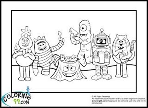 nick jr yo gabba gabba coloring pages 67 best images about coloring pages on pinterest