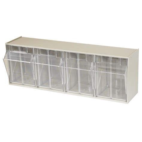 akro mils small parts bins akro mils tiltview cabinet 4 bins 25 lb capacity storage