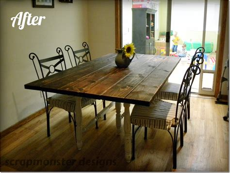 making a dining room table scrapmonster rustic dining table make over