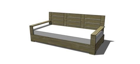 sofa plan free diy furniture plans to build an indoor outdoor