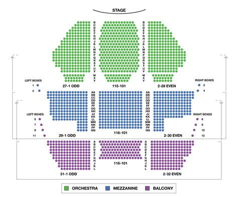 theatre seating chart new amsterdam theatre large broadway seating charts