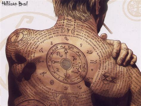 john constantine tattoo hellblazer wallpaper and background 1024x768 id 5262