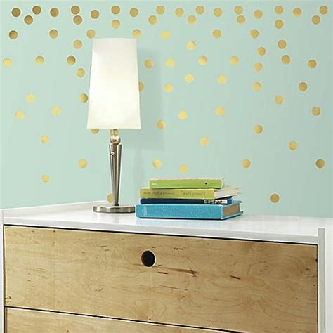 peel and stick wall decor gold confetti dots peel and stick wall decals bed bath