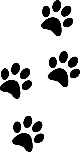 paw clipart black paws clip at clker vector clip royalty free domain