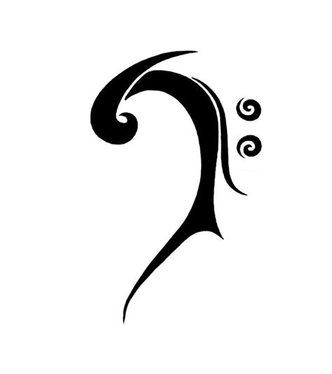 bass clef tattoos treble clef bass clef clipart best