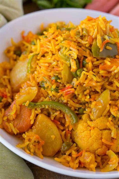 easy vegetable biryani dinner then dessert
