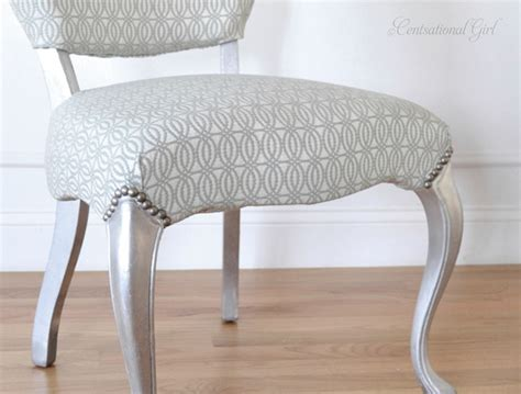 silver vanity chairs silver leaf vanity chair centsational style