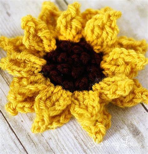 crochet pattern j hook crochet sunflower pattern size j hook worsted weight yarn