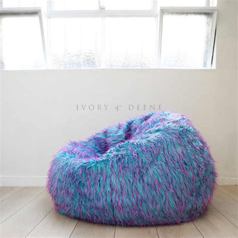 large colourful bean bags retro colourful large bean bag cover in faux fur buy