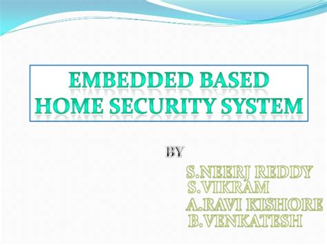 embedded based home security system